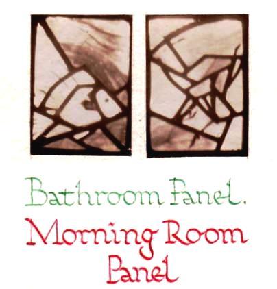 Bathroom Panel - morning room window panels