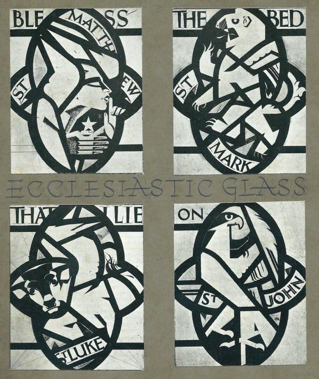 Ecclesiastic Glass - Bless the bed that I lie on - Matthew, Mark, Luke, John