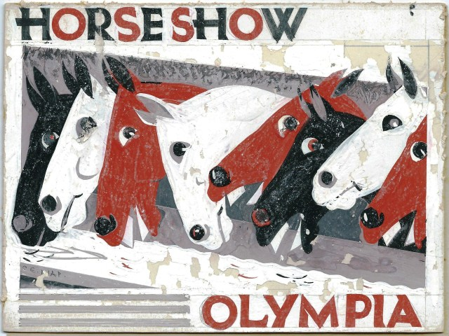 Horse Show Olympia original artwork