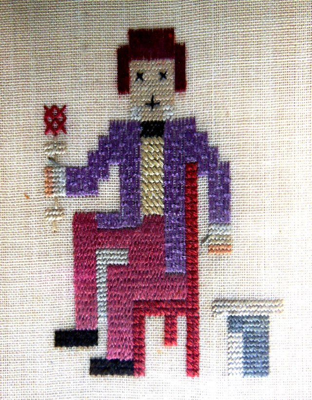 Study for Telegram by Royal School of Needlework