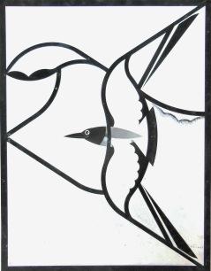 Window design Study in White black-headed gull