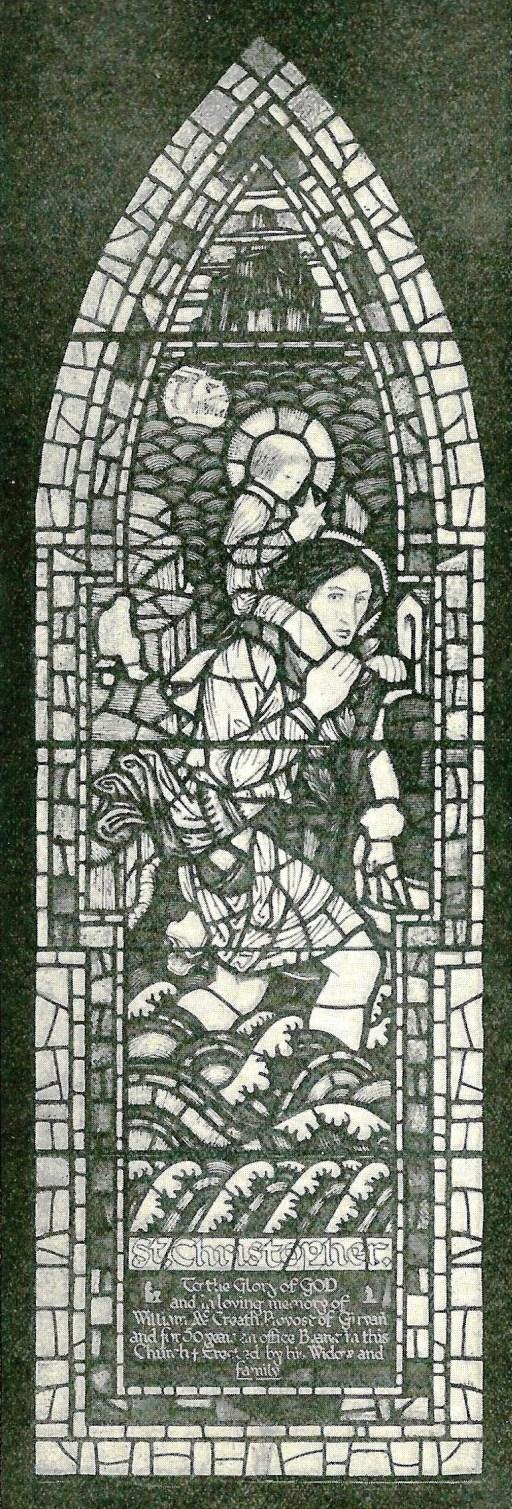 Window St. Christopher Girvan UF Church
