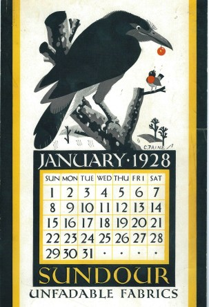 Sundour Calendar January 1928 1
