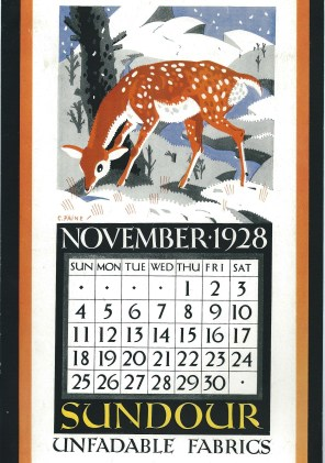 Sundour Calendar November 1928 1
