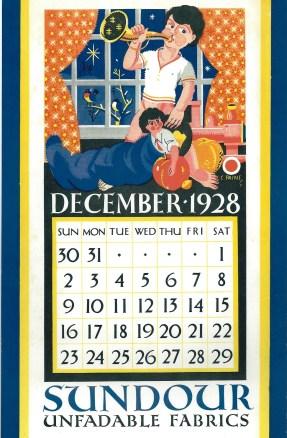 Sundour Calendar December 1928 2