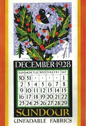 Sundour Calendar December 1928 1