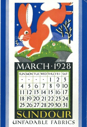 Sundour Calendar March 1928 1