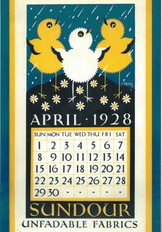 Sundour Calendar April 1928 2