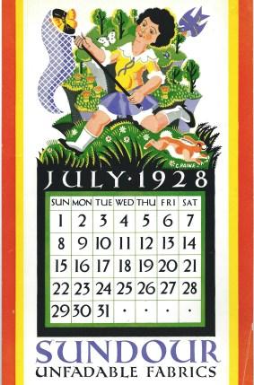 Sundour Calendat July 1928 2