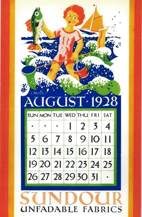 Sundour Calendar August 1928 2