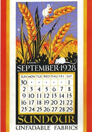 Sundour Calendar September 1928 2