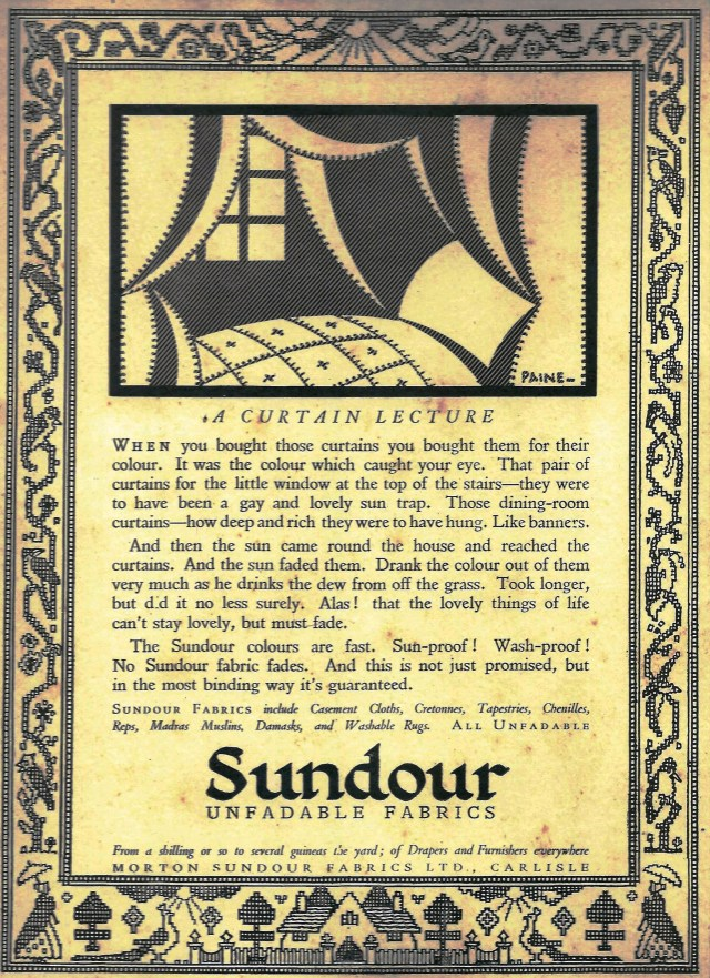 A Curtain Lecture - Sundour ad