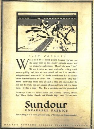 A Fast colours Sundour ad