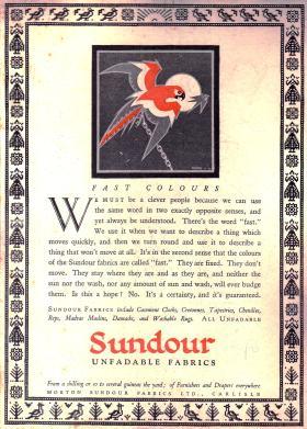 AA Fast Colours Sundour ad