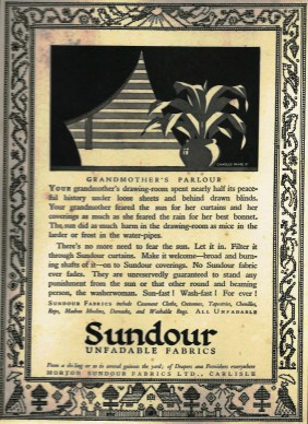 Grandmother's Parlour Sundour ad