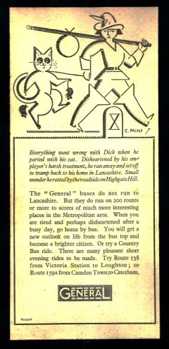 General Bus Coy. - Dick Whittington and cat