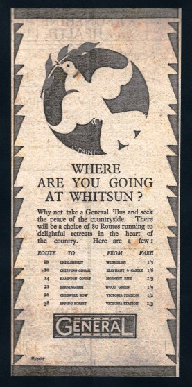 General - Where are you going at Whitsun