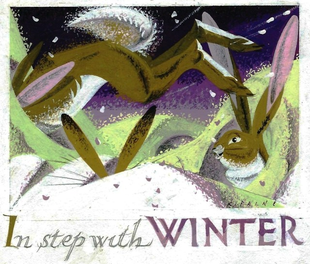 In Step with Winter 2 original artwork