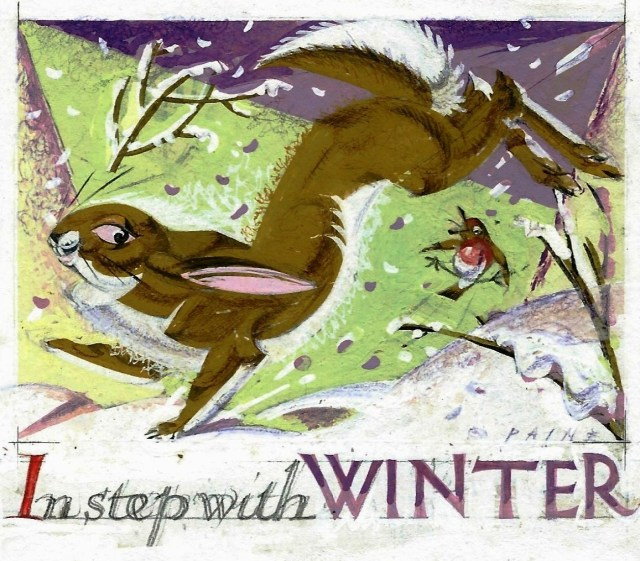 In Step with Winter original artwork
