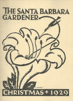 Santa Barabara Gardener Christmas 1929 -cover pic Copo de Oro
