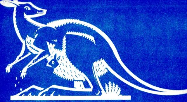 Kangeroo Australia stylised Sundour