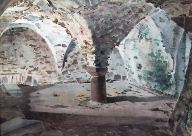 St. Mary's Crypt Gorey Castle 13 x 10 ins