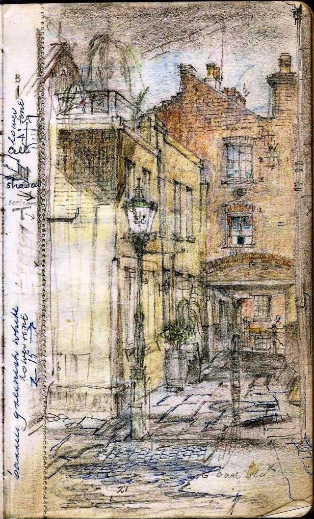 Courtyard watercolour sketch (13)