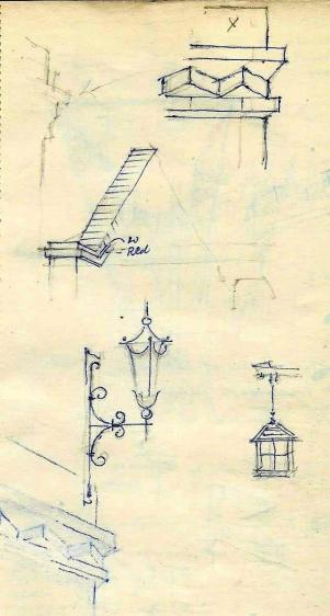 Courtyard watercolour sketch (7)