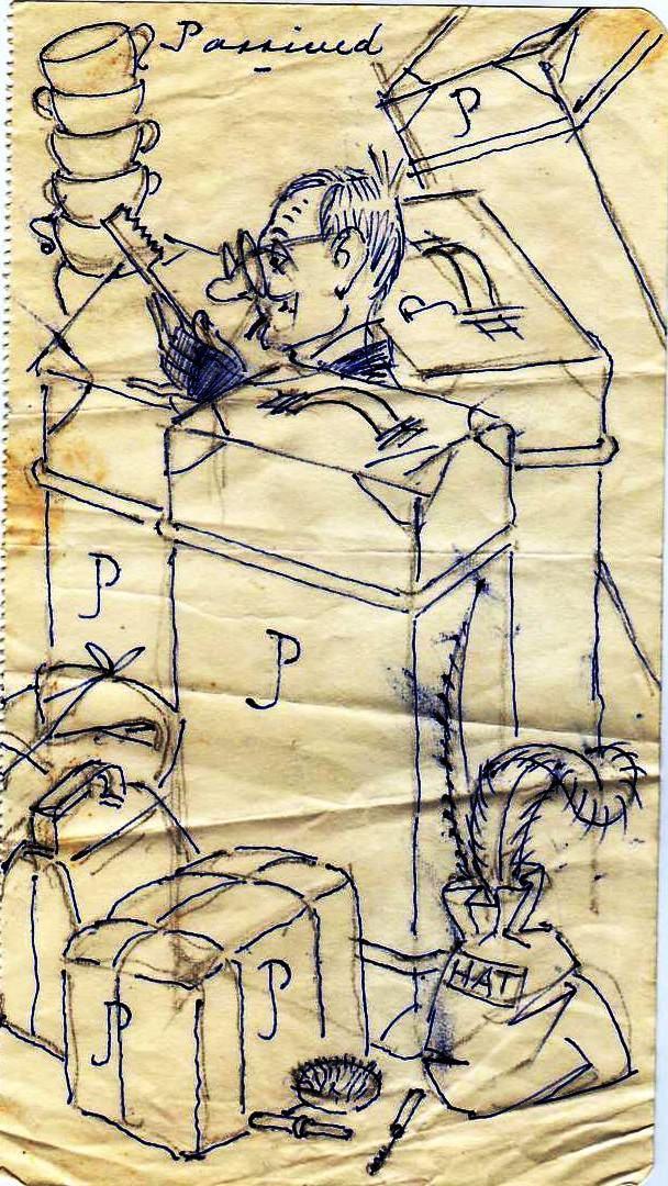 Joan's luggage cartoon
