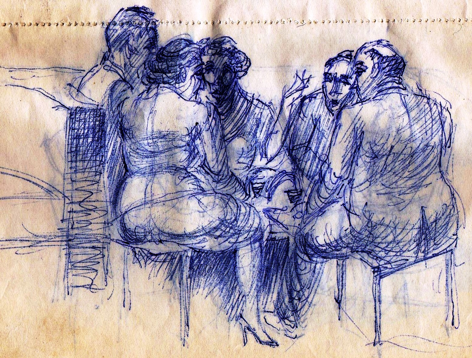 A Seated group Paine