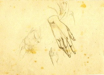 Hands pencil studies Paine (2)