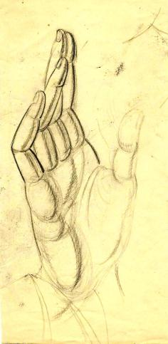 Hands pencil studies Paine A (2)