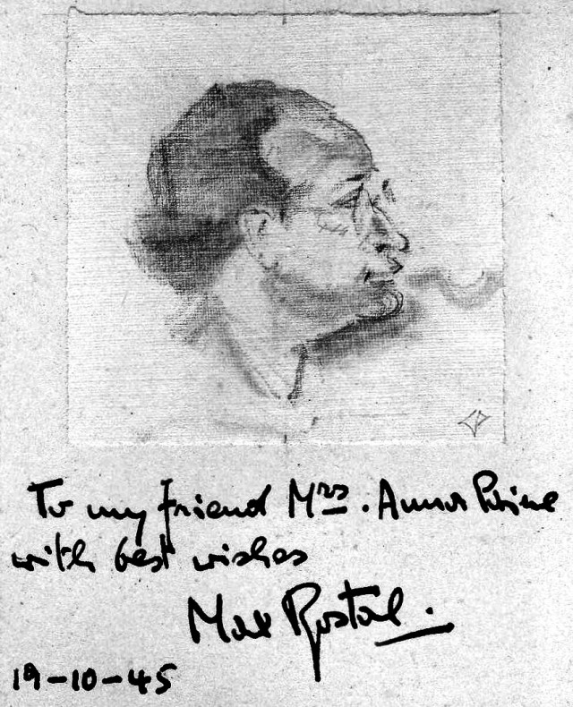 Max Rostal drawn by Paine 1945