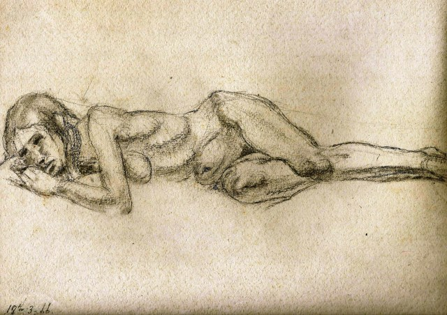 Nude reclining study 18 March 1966