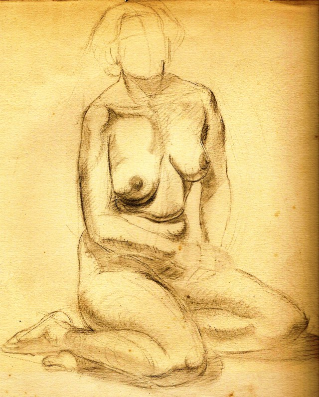Paine Nude sitting study pencil 1 -