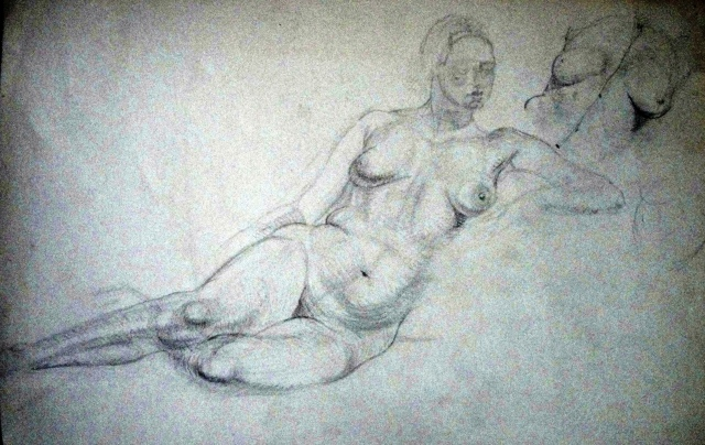 Paine Nude Study 2 pencil