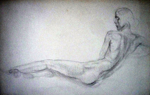 Paine Nude Study pencil